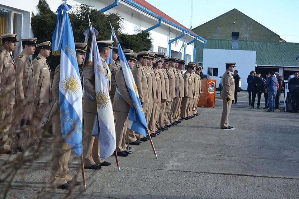 Ceremonia por el festejo de los 100 años de Prefectura en Río Grande