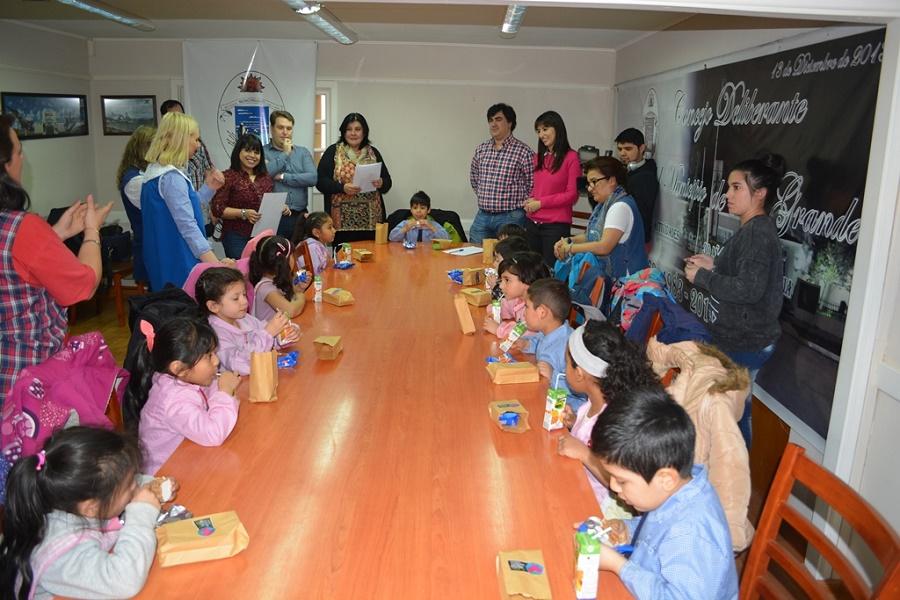 Alumnos del Jardín N° 27 presentaron el proyecto Ariela, La Botera' la plaza del barrio