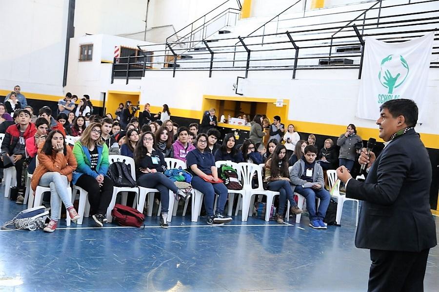 """El Vicegobernador Arcando participó de encuentro de jóvenes en el marco de la """"Scholas Ocurrentes"""""""