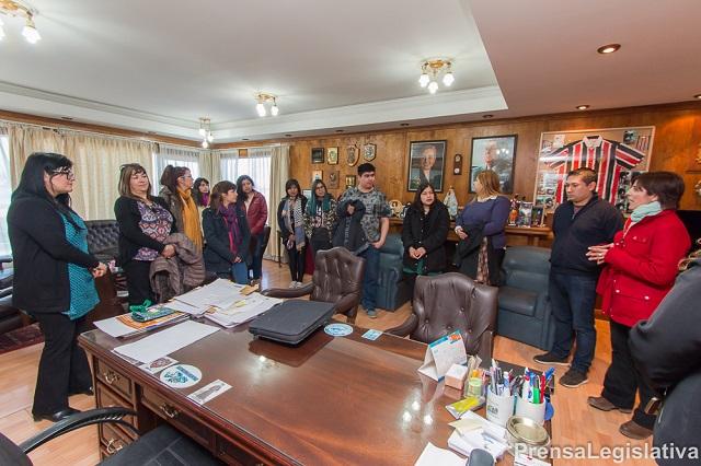 La Legislatura recibió la vista de alumnos del Centro de Formación Laboral