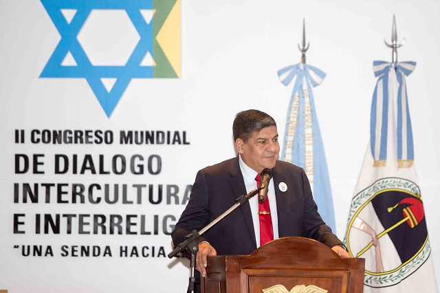 El vicegobernador Arcando inauguró el II Congreso Mundial de Diálogo Intercultural e Interreligioso