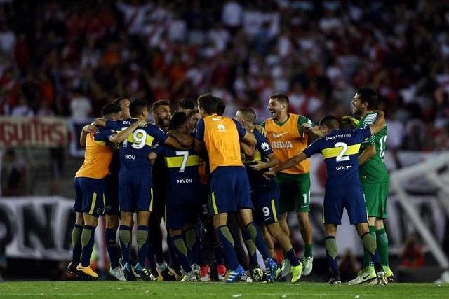 Otra vez, Boca le ganó a River 2 a 1 en el estadio Monumental