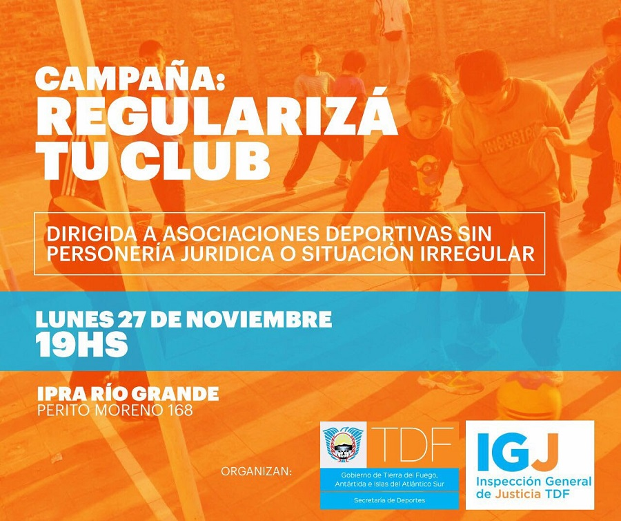 """Gobierno comienza con la campaña """"Regularizá tu Club"""""""