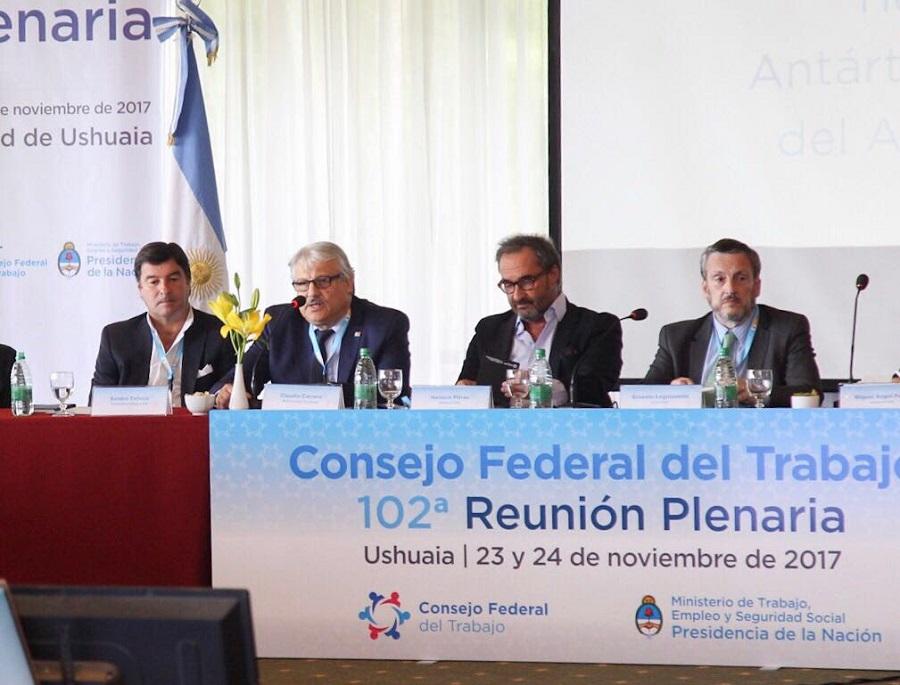 Se realiza en Ushuaia la última Reunión Plenaria del 2017 del Consejo Federal del Trabajo