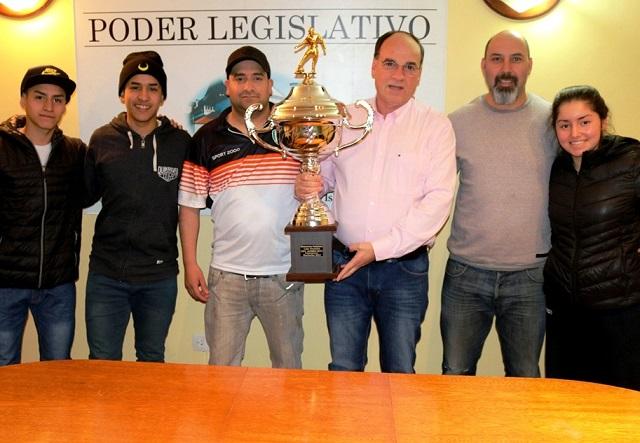 Los campeones del Patagónico de Clubes visitaron el Parlamento
