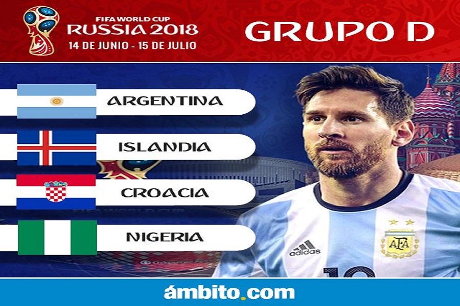 La Selección debutará ante Islandia, y luego enfrentará a Croacia y Nigeria