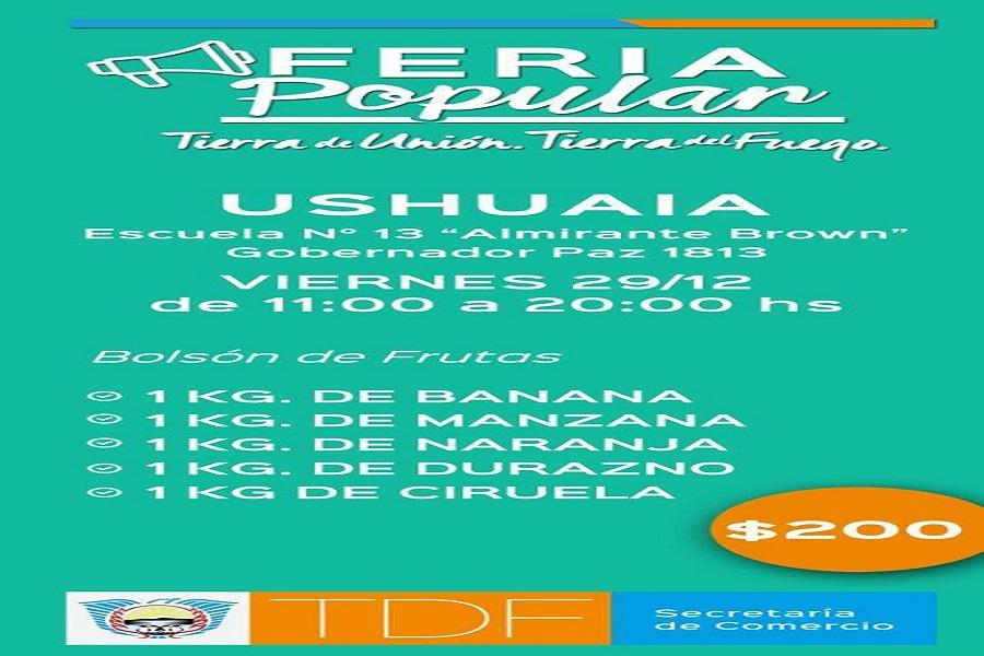 Feria Popular con precios accesibles en Río Grande y Ushuaia