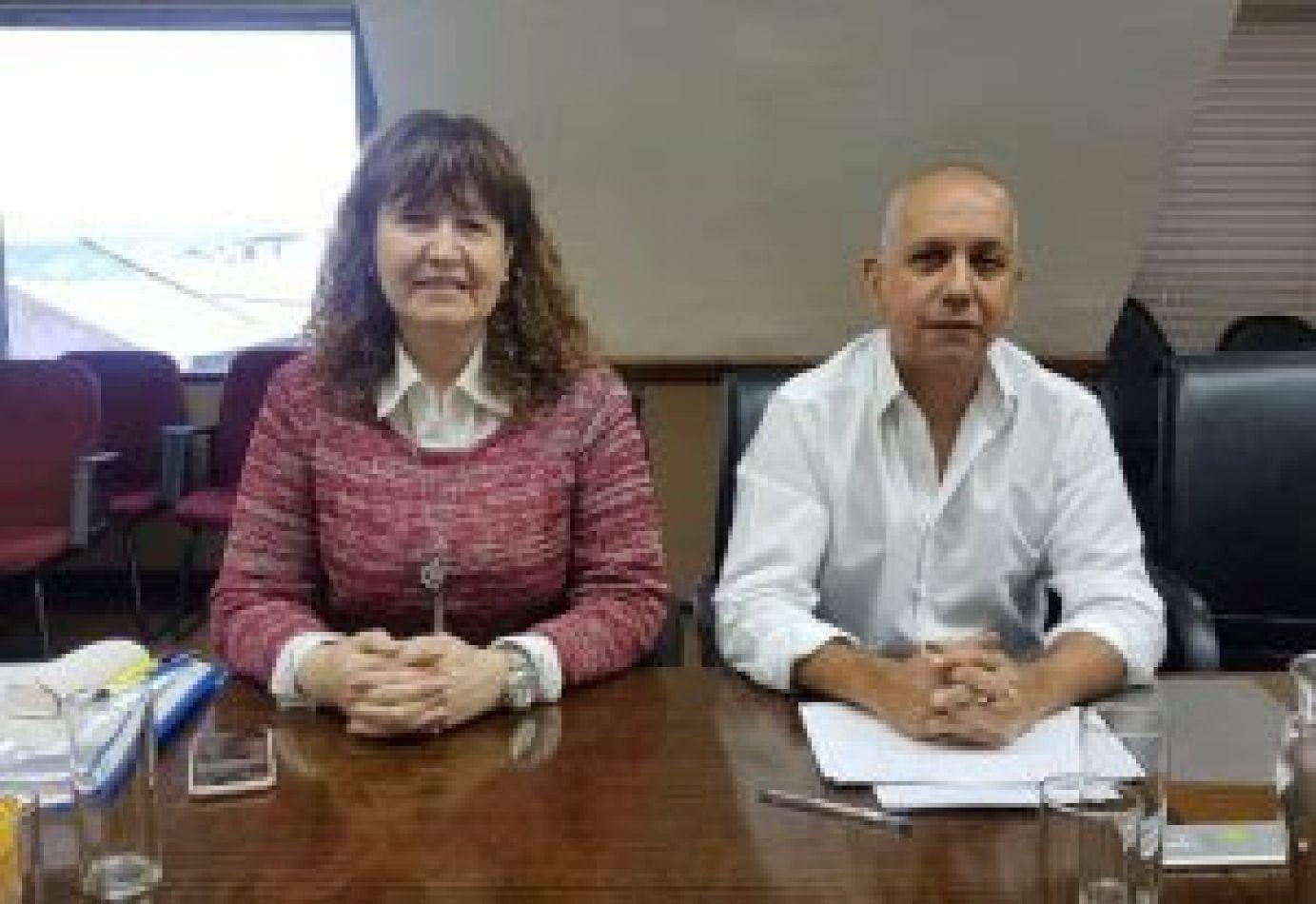 Los legisladores del Movimiento Popular Fueguino, Mónica Urquiza y Pablo Villegas
