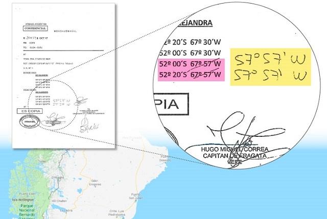 Atribuyen como 'error' la inclusión de Malvinas en la ruta del ARA San Juan