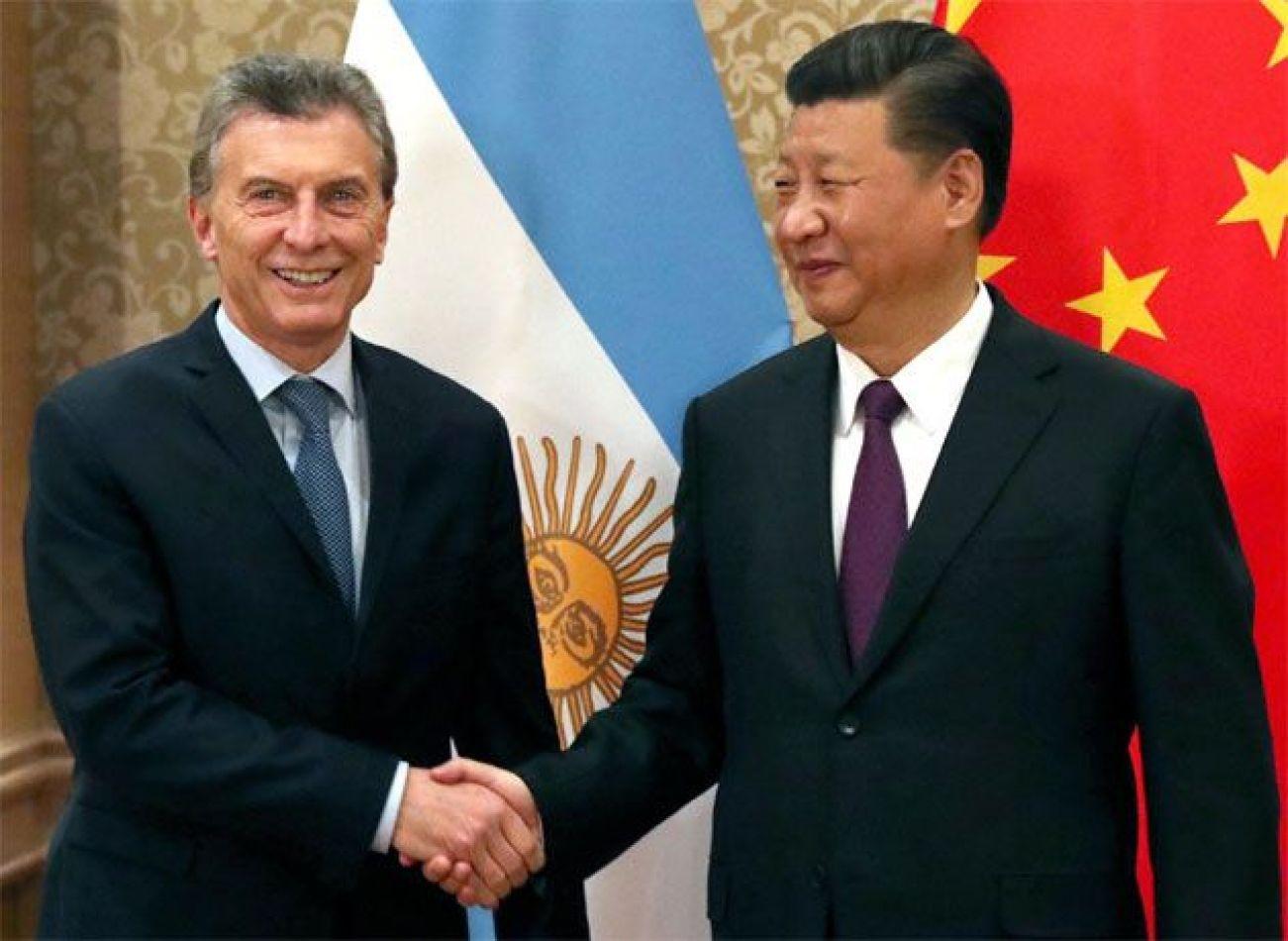 Presidente Macri junto a Xi Jinping
