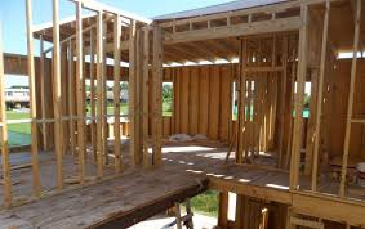 Construcción de viviendas con lenga