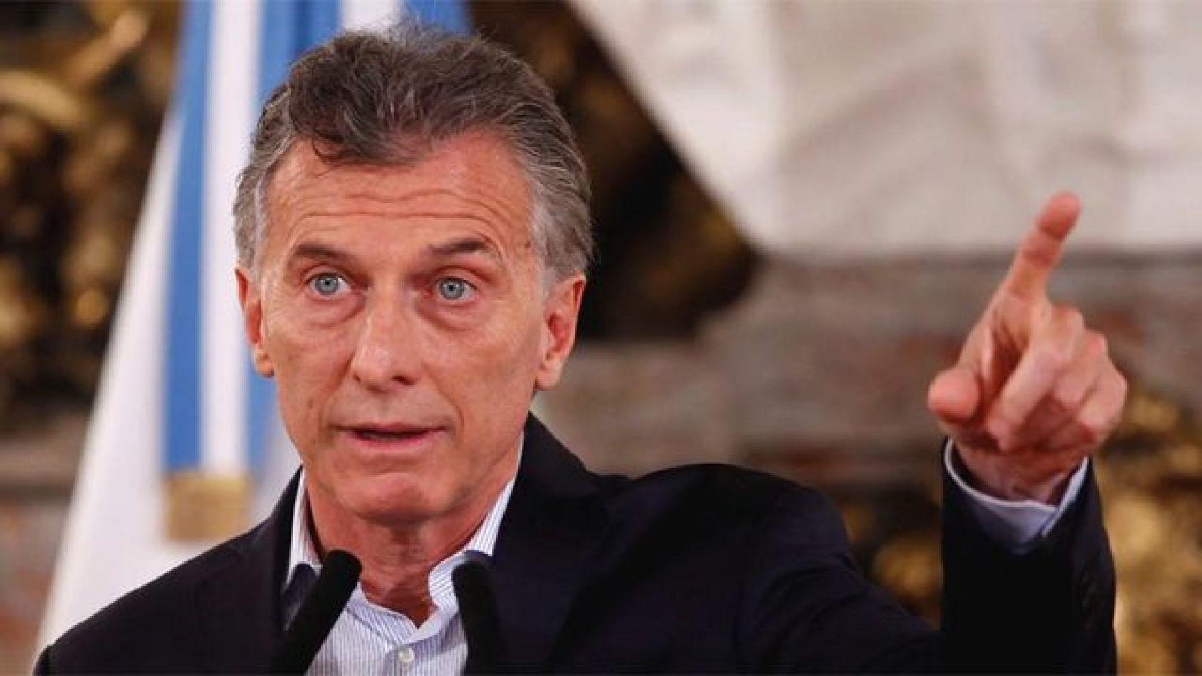 Presidente de la nación Mauricio Macri