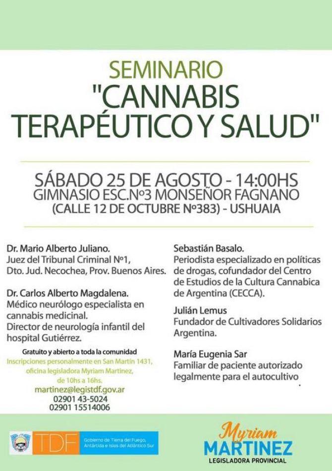 """Seminario """"Cannabis Terapeútico y Salud"""""""