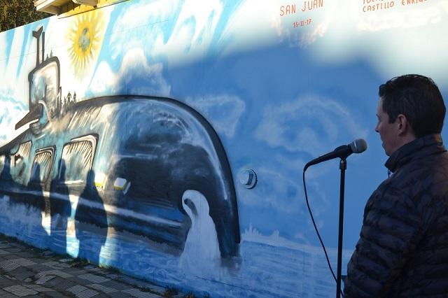 Presentaron oficialmente el mural dedicado al ARA San Juan