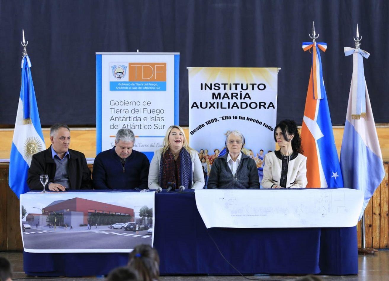 Construirán un nuevo gimnasio para el colegio María Auxiliadora