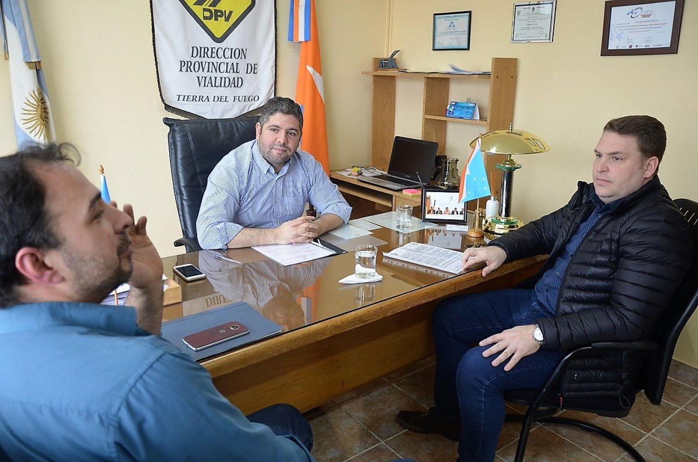 El concejal Von der Thusen recibió el apoyo de Vialidad Provincial
