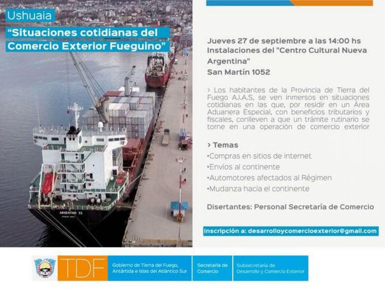 """Se realizará Seminario de """"Situaciones Cotidianas del Comercio Exterior Fueguino"""""""