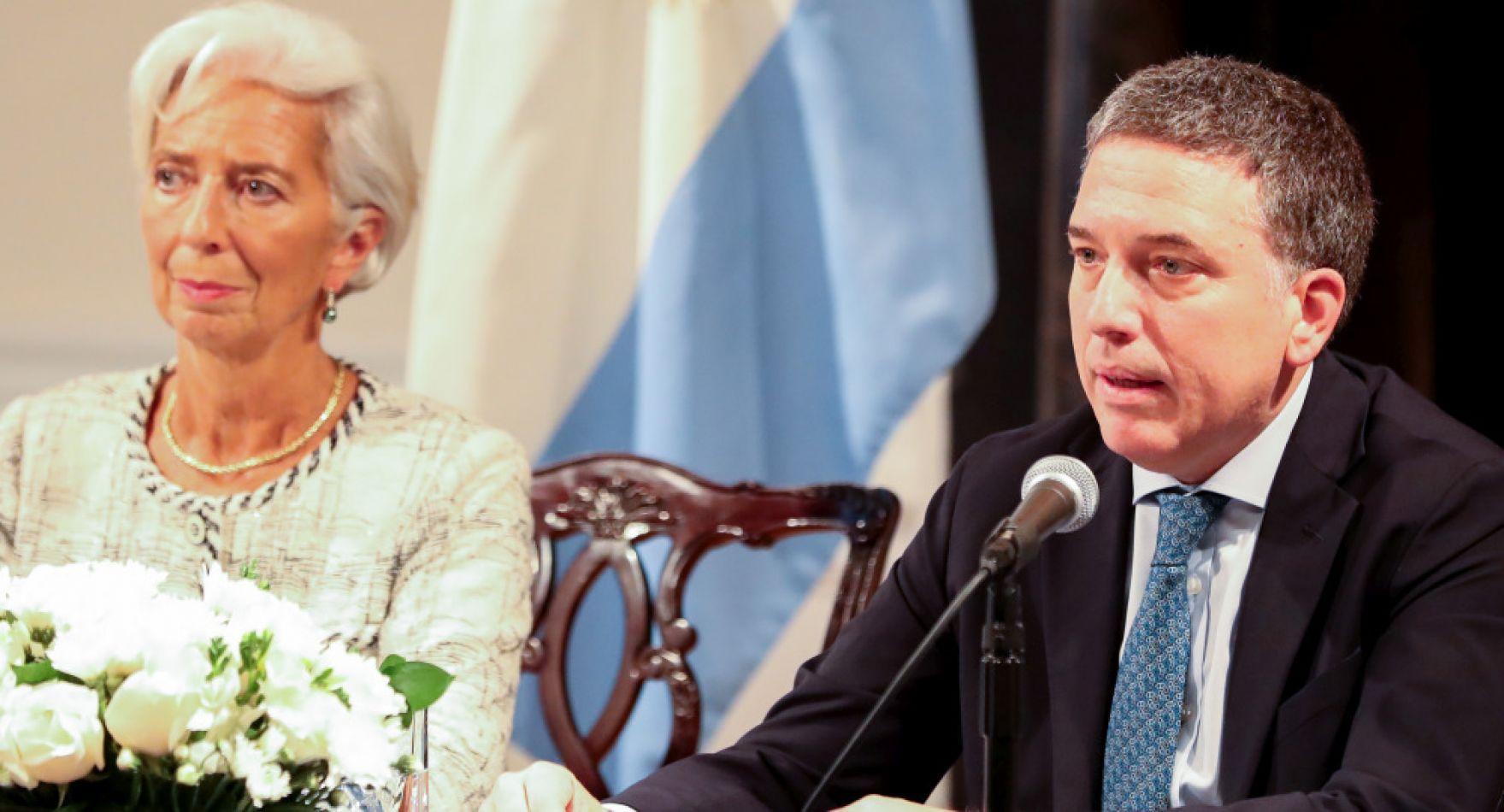 Nicolás Dujovne junto a Christine Lagarde.