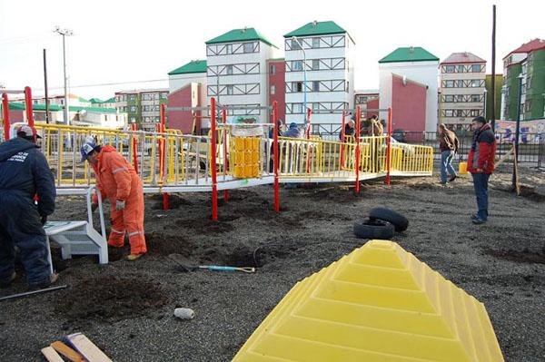 En breve será inaugurada la nueva plaza integradora en Chacra II.