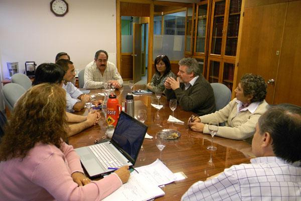 Martínez y Martin, durante el encuentro con directivos del IPAUSS.