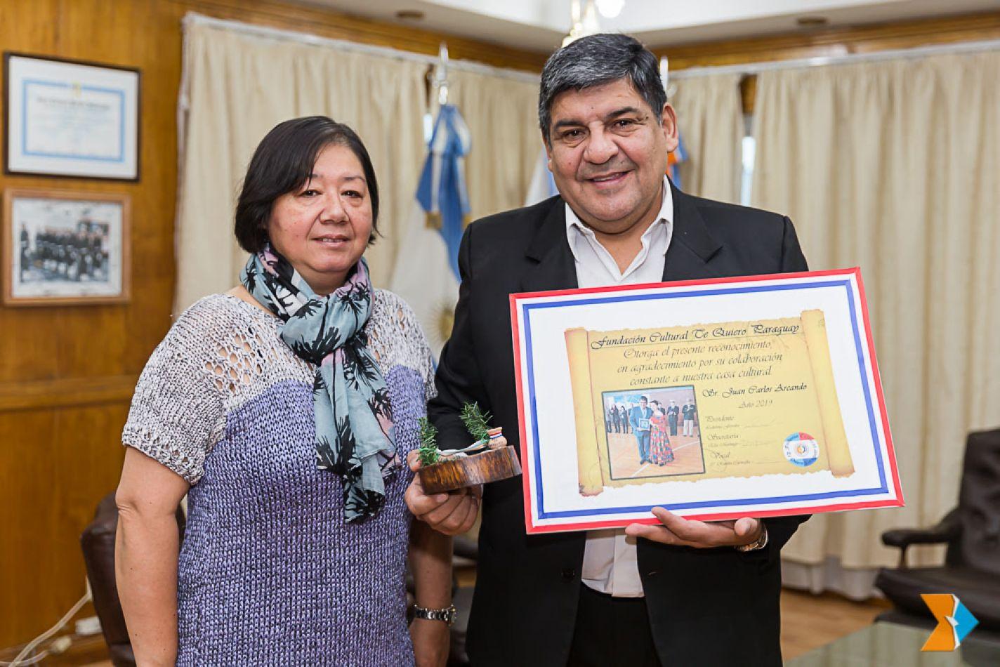 """Arcando fue reconocido por la Fundación """"Te Quiero Paraguay"""""""