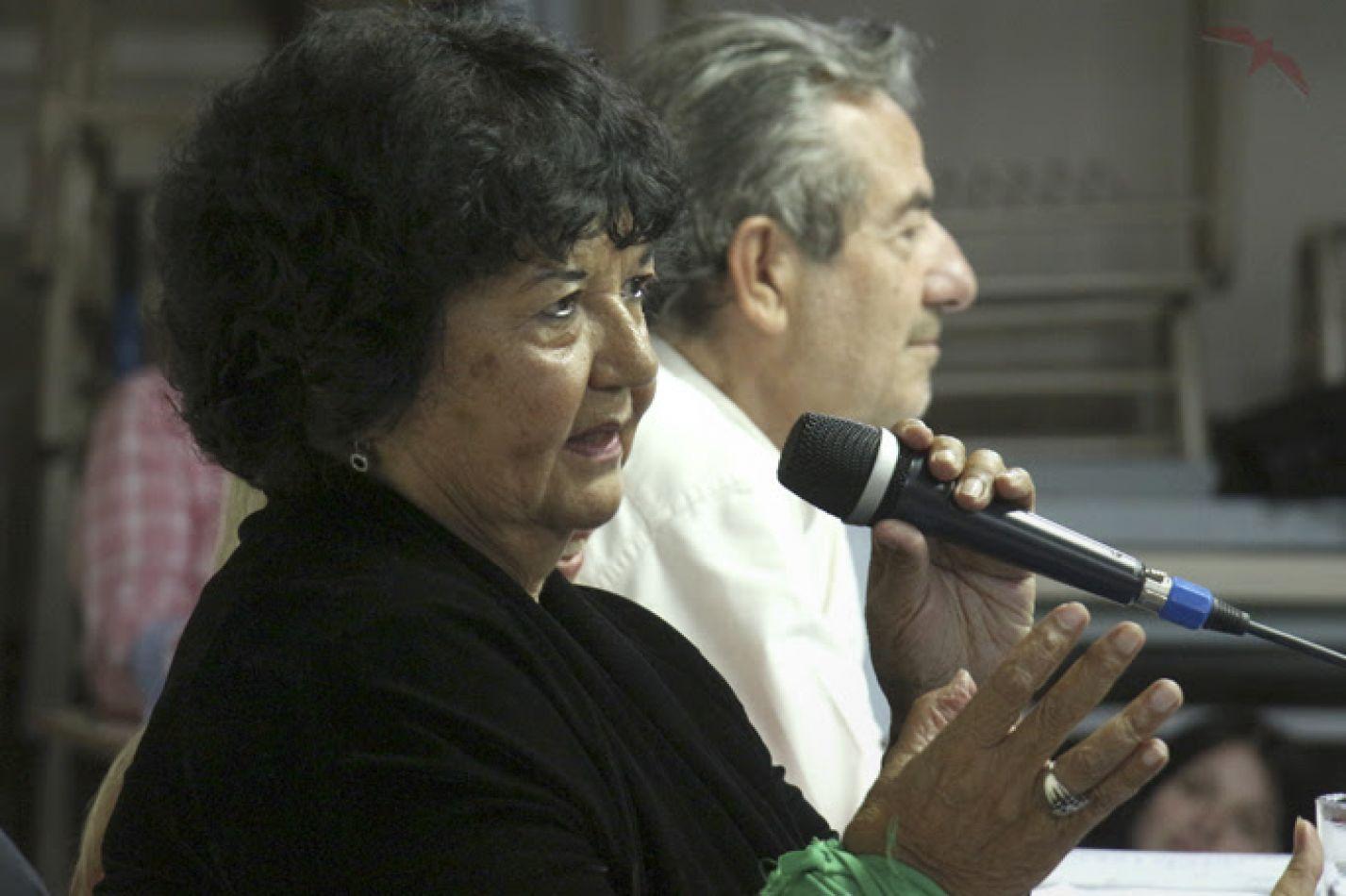 Socióloga, historiadora y feminista argentina, Dora Barrancos y el sociólogo de renombre internacional Fortunato Mallimaci