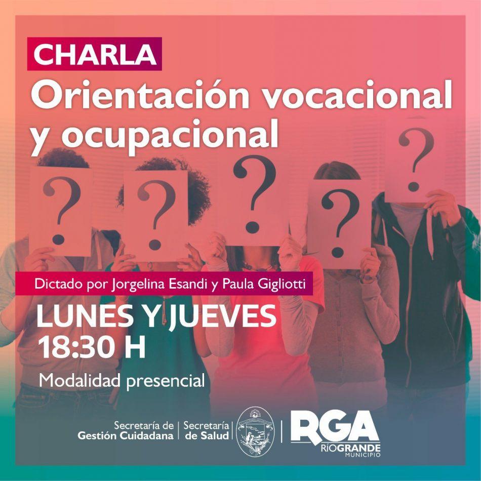 Se realizarán charlas sobre Orientación Vocacional y Ocupacional