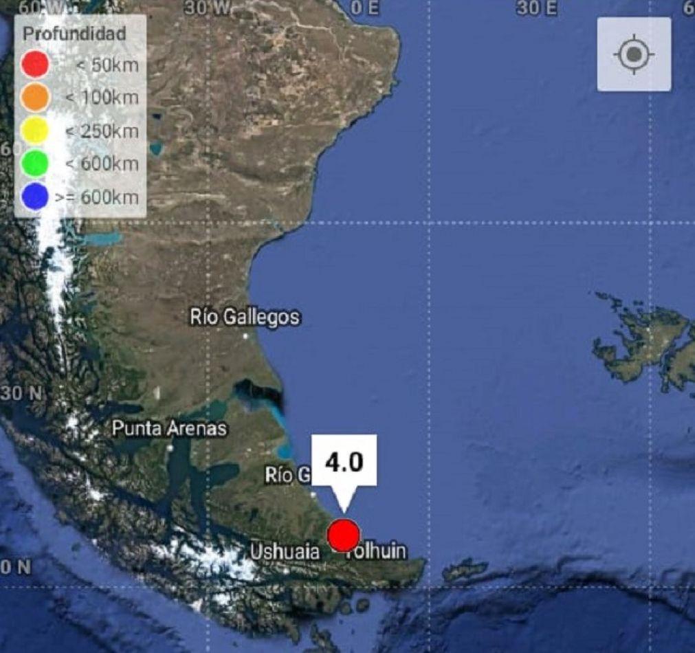 Se registró un sismo en Tolhuin