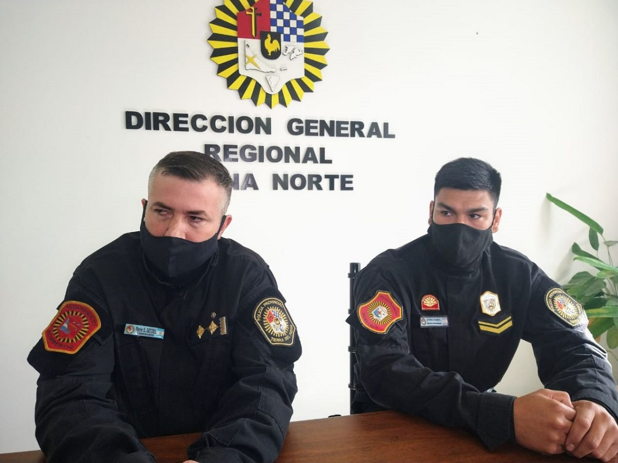 """""""Simplemente hicimos nuestra labor que es salvaguardar la vida de los ciudadanos"""". (Foto: Celicia Zúñiga)."""