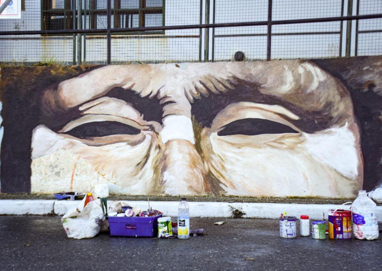 Se restauró el mural de Magallanes y Lasserre