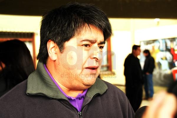 Secretario General de la Asociación de Trabajadores del Estado Ushuaia, Carlos Córdoba.