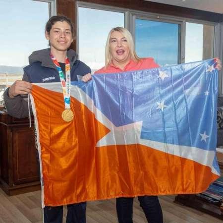 La gobernadora  recibió al campeón olimpico Iñaki Mazza