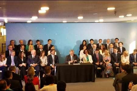 Alberto Fernández presentó a su gabinete