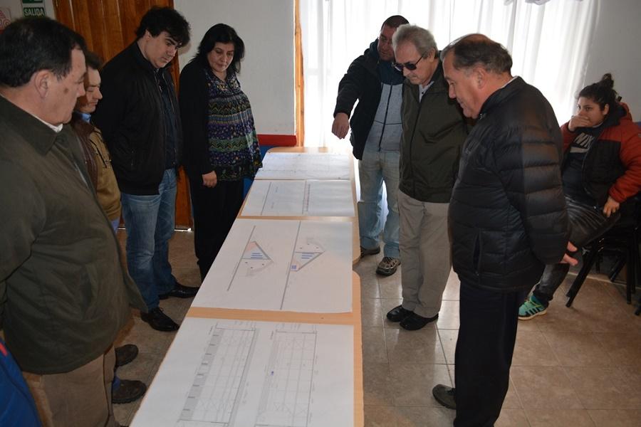 ACHER presentó a Nogar y Mora el proyecto del nuevo gimnasio