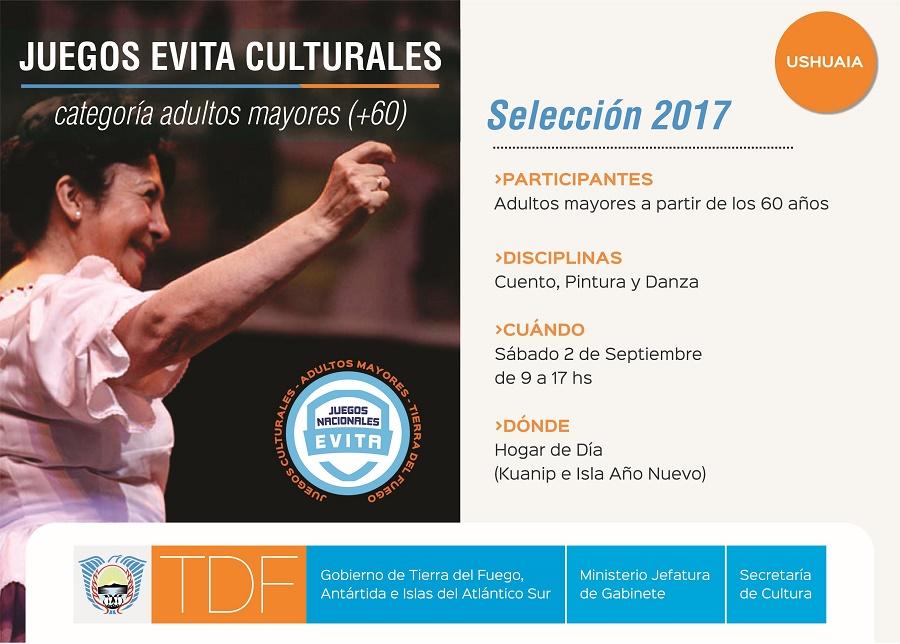 Juegos Evita Culturales 2017: Selección Categoría Adultos Mayores