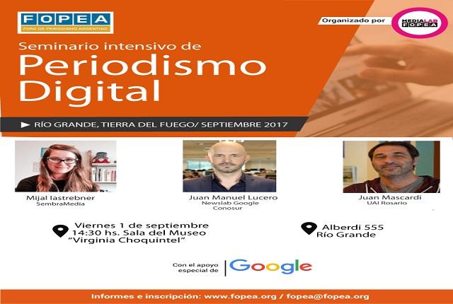 Río Grande: Darán un seminario intensivo de periodismo digital