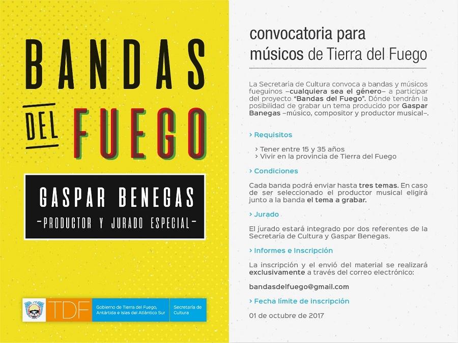 """""""Bandas del Fuego"""": convocatoria para músicos de Tierra del Fuego"""
