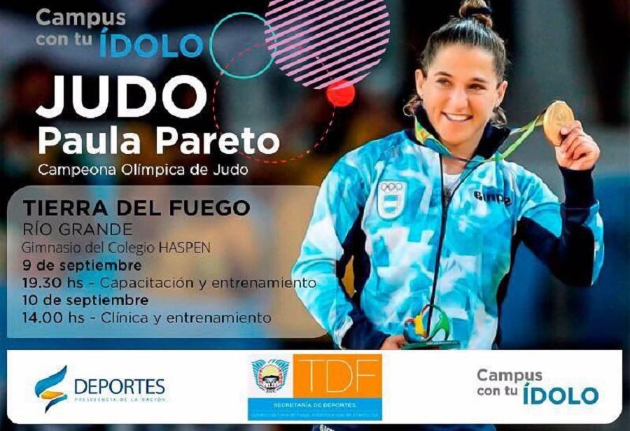 La judoca Paula Pareto llega a Río Grande