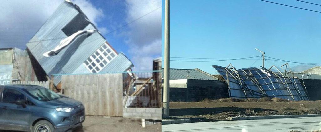 El viento causa destrozos y complicaciones en Río Grande