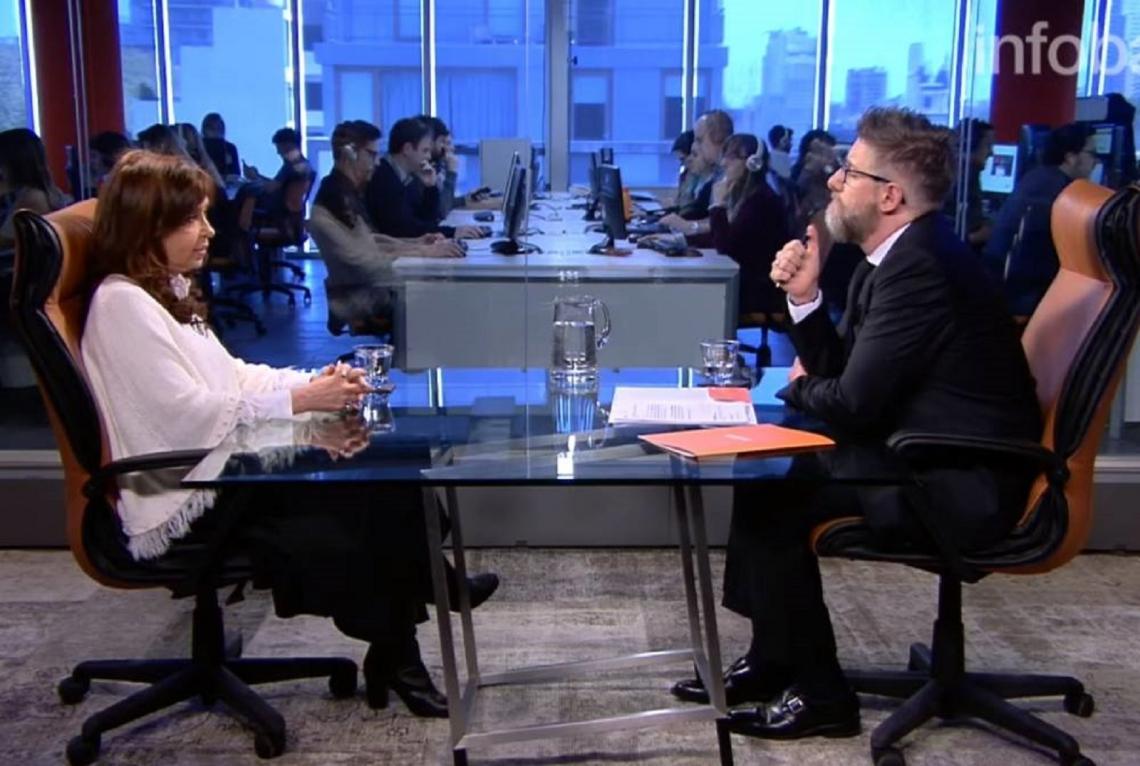 Cristina Fernández aceptó una entrevista con el periodista Luis Novaresio