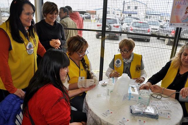 Controles en riesgo de Salud: El Club de Leones atendió a más de 80 vecinos