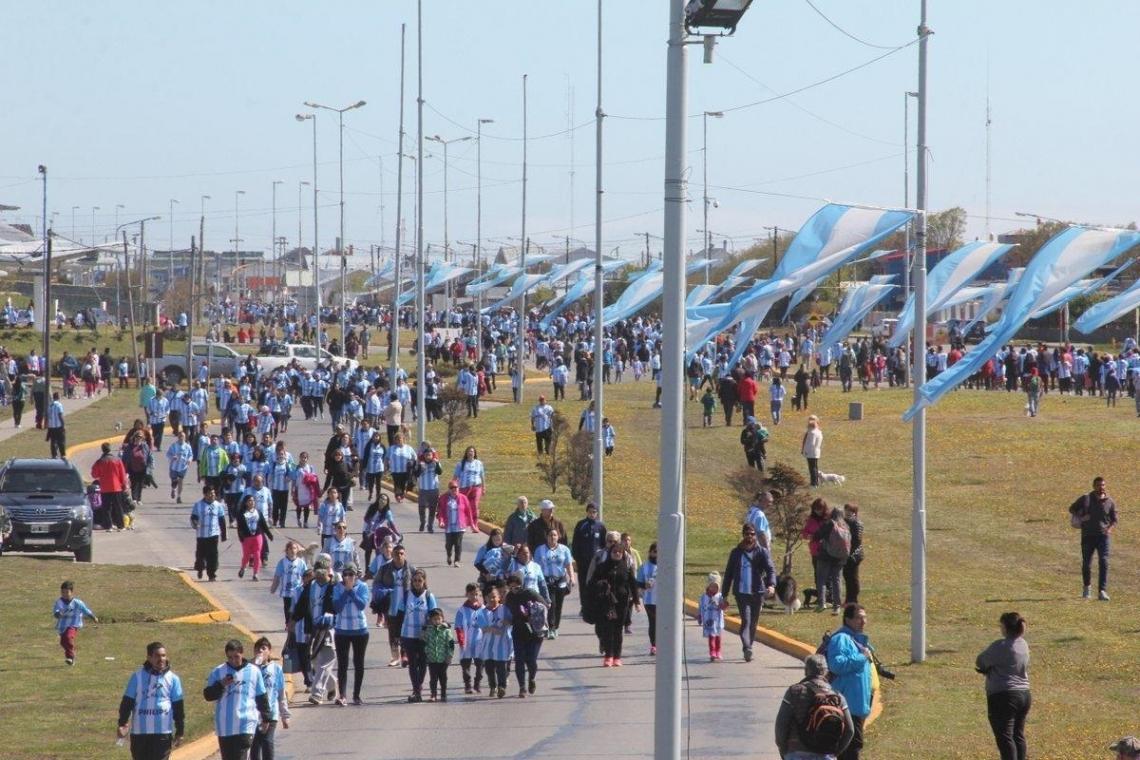 Miles de riograndenses corrieron nuevamente por Malvinas