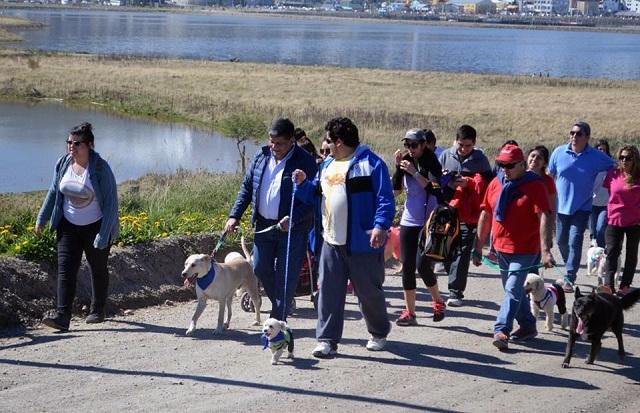 Tenencia responsable: La 'Caninata' congregó a muchas familias en Ushuaia