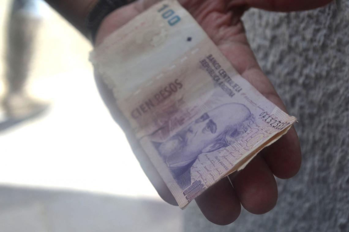 Una persona denunció en la prensa que el BTF le dio un billete falso