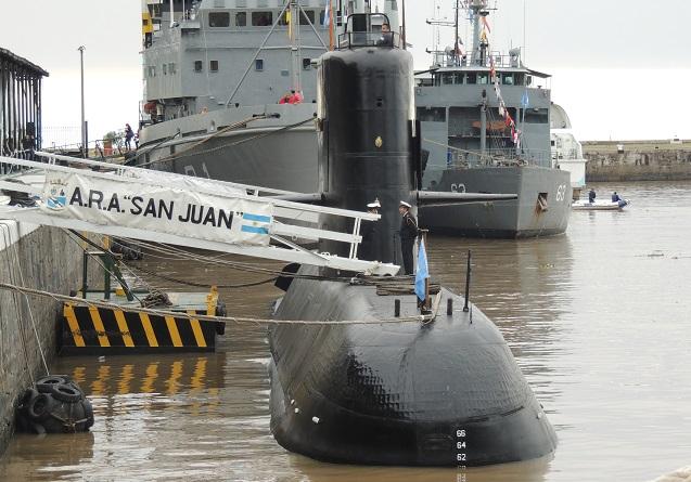 Continúa sin rastros del submarino argentino perdido en el Atlántico Sur