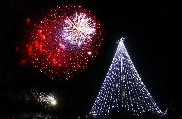 Ya delinean los preparativos para el encendido del árbol de Navidad