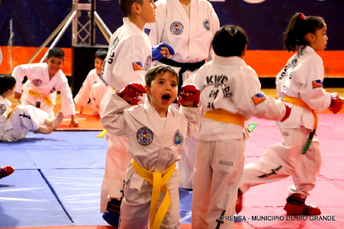 Los talleres de Taekwondo cerraron el año con una exhibición para las familias