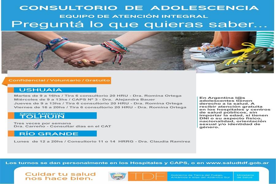 Consultorios de Adolescencia: Garantes del derecho a la salud de los jóvenes fueguinos