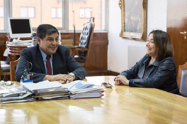 Juan Carlos Arcando recibió a Marisol Andrade, Alcaldesa de Porvenir