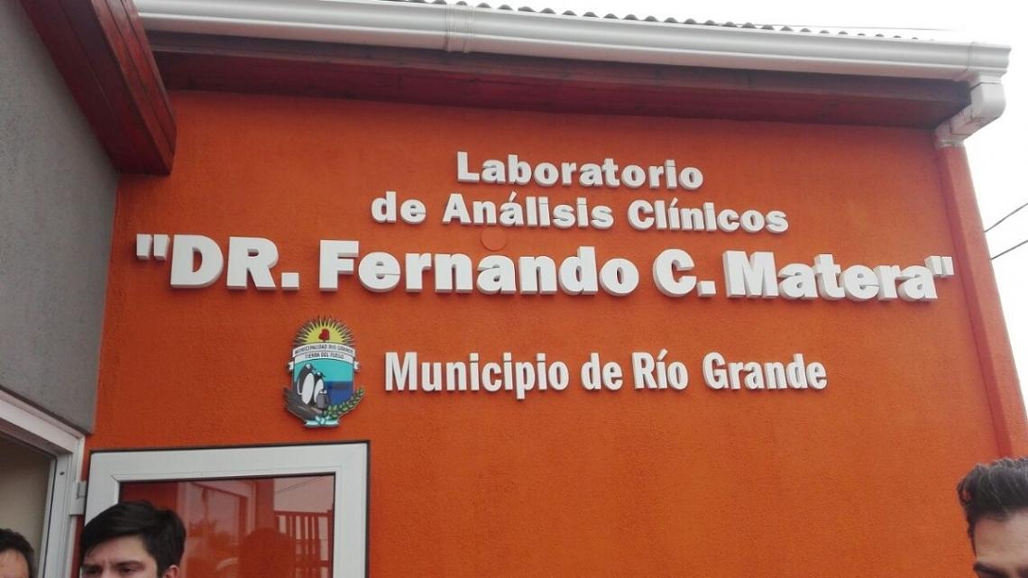 "Abrió el laboratorio municipal ""Dr. Fernando Carlos Matera"""